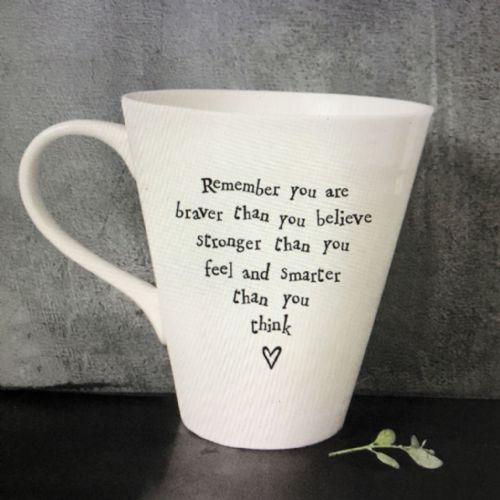 Remember you are braver than you believe  - gift mug